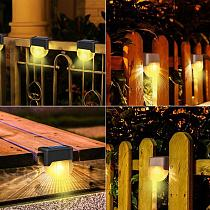 Solar Garden Step Light Outdoor Waterproof Garden Railing Fence Decoration Solar Stair Light Waterproof Step Light