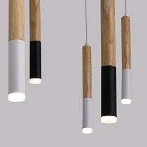 Wood LED Pendant Light 7W hang lamp dining/living room Kitchen Island Shop bar cafe droplight Long Tube nordic pendant lights