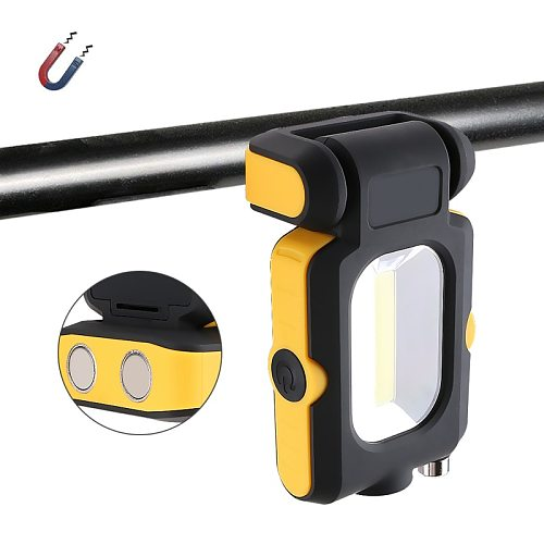 LED Torch Lamp Strong Magnet COB LED Flashlight 3 Modes Battery Operated Working Lamp Magnet Mini Lighting