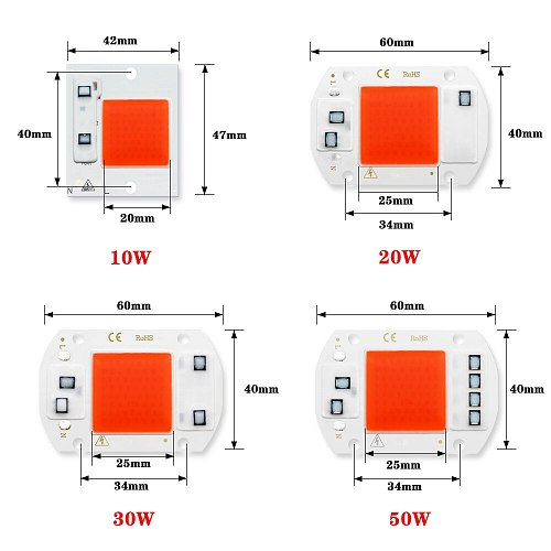 COB Chip LED Grow Light Phyto Lamp AC 220V 20W 30W 50W Full Spectrum No need driver For Growth Flower Seedling Grow Plant