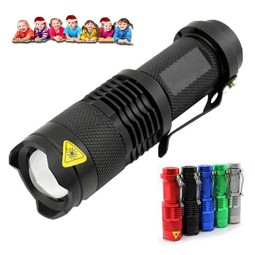 LED Flashlight Torch Q5 LED 14500 AA Lamp 3 Modes Portable Zoom Outdoor Camping Flashlight Waterproof LED Mini Tactical Lantern