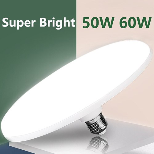 E27 Led Bulb 220V LED Lamp Light Bulbs 15/20/30/40/50W 60W UFO Spotlights Bombillas Ampoule Led Lights for Home Lighting White