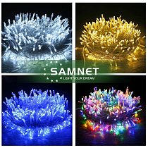 Outdoor For Christmas 10M 20M 50M LED String Light Garlands LED Decoraction Fairy Lights For Home Wedding Party Holiday Lights