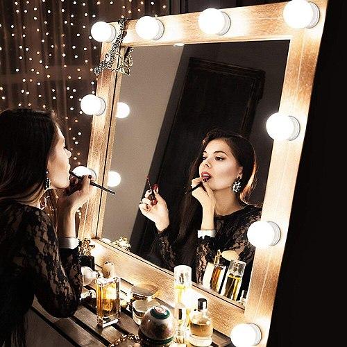 USB LED 5V Makeup Lamp 2 6 10 14 Bulbs Kit For Dressing Table Stepless Dimmable Hollywood Vanity Mirror Light