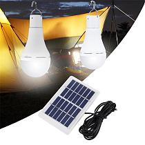 Outdoor Portable LED Solar Lamp Charged Solar Energy Light Panel Powered Emergency Bulb For Garden Camping Tent Fishing Cocina