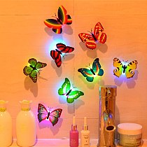 Wall Stickers Butterfly LED Lights Wall Stickers 3D House Decoration Random Color High Quality Wall stickers Wallpaper лампа X1