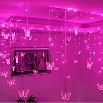 3.5m Butterfly LED STRING Strip Festival Holiday Icicle Curtain LIGHTS CHRISTMAS WEDDING Lamps 100SMD 110V/220V EU/US/UK/AU Plug