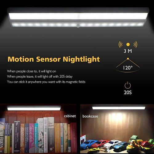 Wireless LED Under Cabinet Light 10 LEDs Motion Sensor Light Cupboard Wardrobe Lamp For Closet Stairs Kitchen Led Night Light