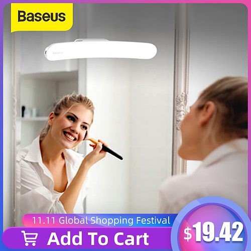Baseus USB LED Mirror Light Makeup Mirror Vanity Light Adjustable Mirror lamp Portable Makeup lights For Bathroom Dressing Table