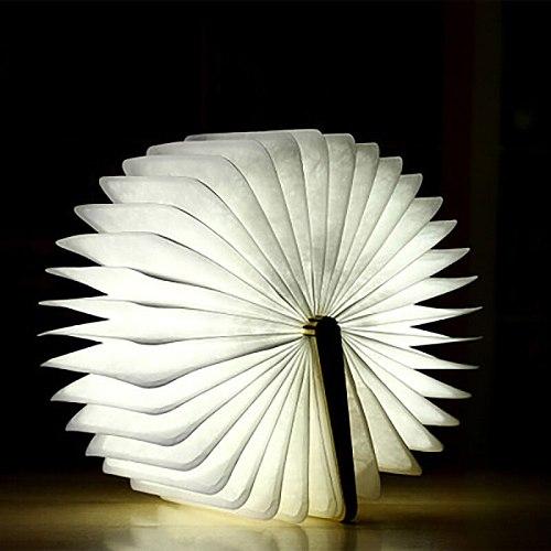 LED Book Light Innovative Folding Page Flip Book Shape Night Light for Bedroom Home Indoor Lighting TB Sale