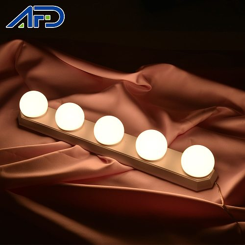 5 led Makeup Mirror Lights Hollywood Style Makeup Lamp LED Bulbs Vanity Mirror Decoration Lights Dimmable Dressing Mirror Lights