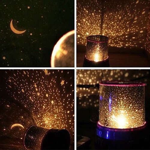 LED Star Sky Projector Night Light Starry Magic Stars Moon Planet Space Projector Lamp Universe Decorative Lamp Novelty Lighting