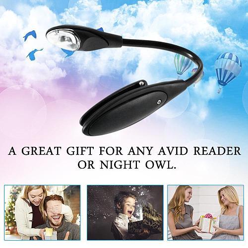 Led Book Light Mini Clip-On Flexible Bright LED Lamp Light Book Reading Lamp For Travel Bedroom Portable Student Dormitory Light