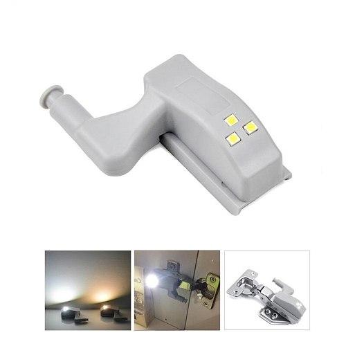 4PC/lot DC 12V Furniture lighting led cabinet lamp Automatic off on Hinge Lamp for Wardrobe Kitchen Cupboard Inner Light Sensor