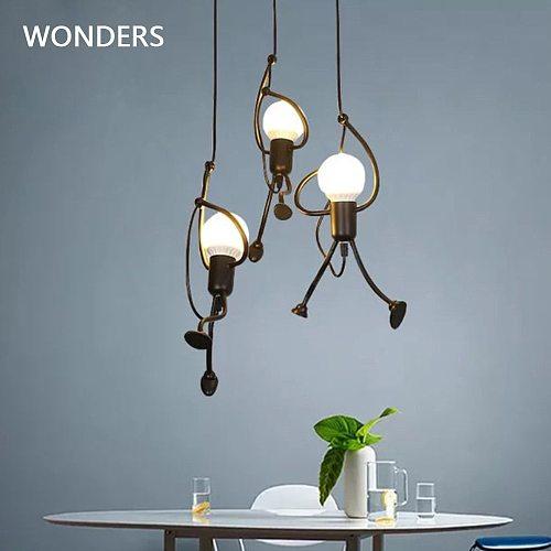 Modern pendant lamp little man climbing Elegant Hanger for home indoor Lighting  Art decoration Pendant Light