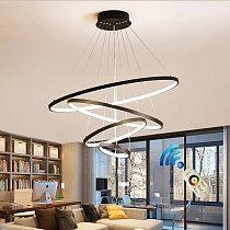 Modern led chandelier 40/60/80cm circle chandelier lighting  lustre ring lights living room decoration bedroom light fixtures