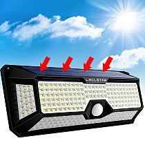 268 LED Night Light with Motion Sensor Solar Lamp Outdoor Wall Light Waterproof Powered Sunlight Decoration Garden Terrace Yard