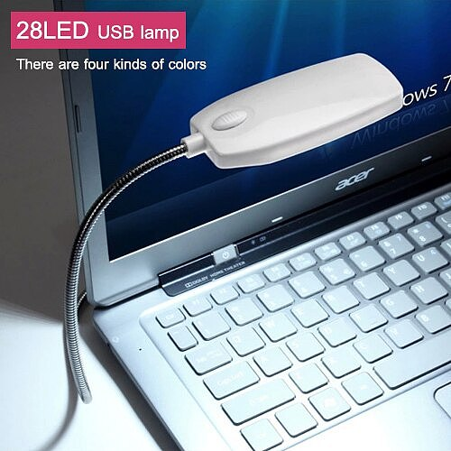 28 LED Super Bright Flexible Reading Lamp USB LED Eye Protection Notebook Computer Mini Portable Night Light