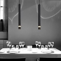 Modern led Pendant Lamp Long Tube light Kitchen Island Dining Room Shop Bar Decoration Cylinder Pipe Pendant Light Kitchen Lamp