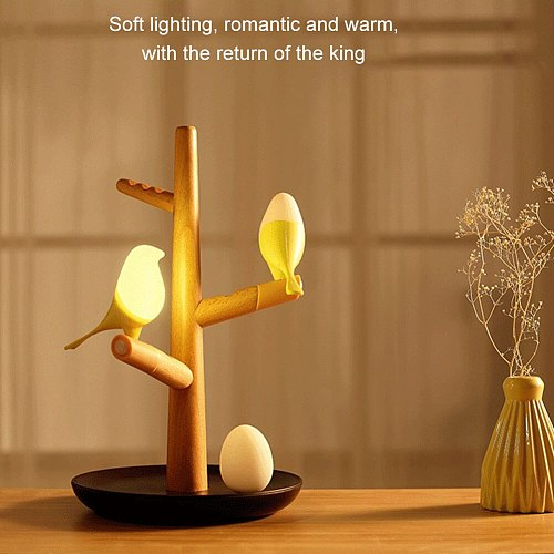 USB Charging LED Table Lamp Tree Branch 3200K Infrared Sensor Night Light No Flickering for Home SDF-SHIP