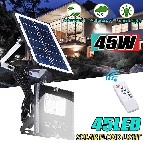 Solar Lamp Floodlight Led Portable Spotlight floodlight 45W Outdoor Street Garden Light Waterproof Wall Lamp with Remote Control