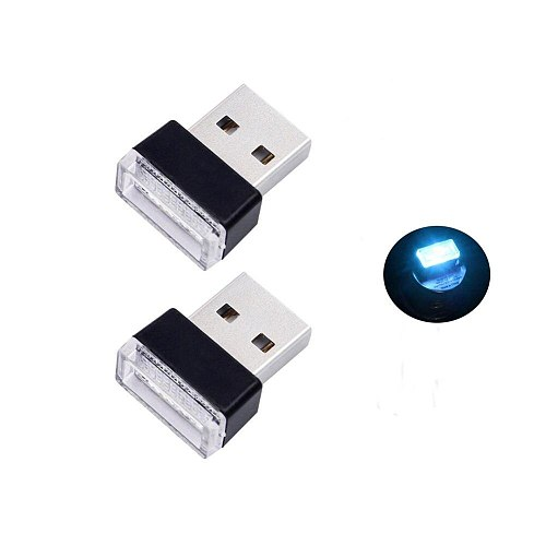 MINI USB Car Interior Lighting Lamp Portable Wireless Atmosphere LED Light For Notebook PC Computer Power Bank Emergency Lights