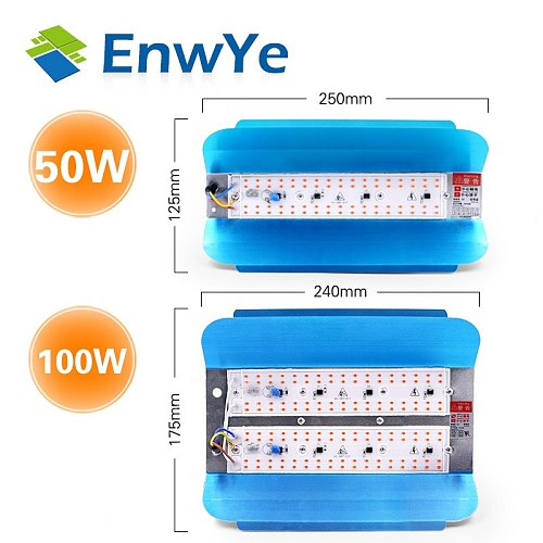 EnwYe 50W Plant growth lamp LED Grow Light Phyto Simple floodlight 220V For Plant Greenhouse Hydroponic