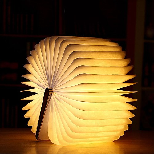 LED Book Light Innovative Folding Page Flip Book Shape Night Light for Bedroom Home Indoor Lighting TB Sale