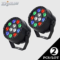 Dj Lighting Mini LED Flat Par With 3Colors Disco RGBW Lyre Wash Arrive At Voice Control For Home Party Light