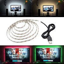 5V USB LED Strip Night Light TV Back String Light Red Blue Green Warm White 3528 SMD Flexible LED Stripe Lamp for TV PC Laptop