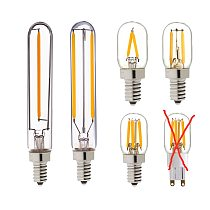 T20 Refrigerator LED Filament Bulb E12 E14 Fridge Light Bulbs 220V 110V COB lamparas For Chandelier Retro Vintage Lamps,Dimmable