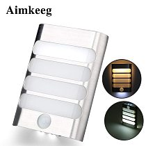 Sensor Night Light LED battery operate Wireless PIR Infrared Motion Sensor Wall Lamp Auto On/Off for Hallway Access Stairs