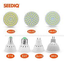 Led Lamp E27 E14 GU10 MR16 220V 240V 110V Led Spotlight Bulb 40 60 80 Leds 2835SMD Leds Lampada Bombillas Spot Light Bulbs