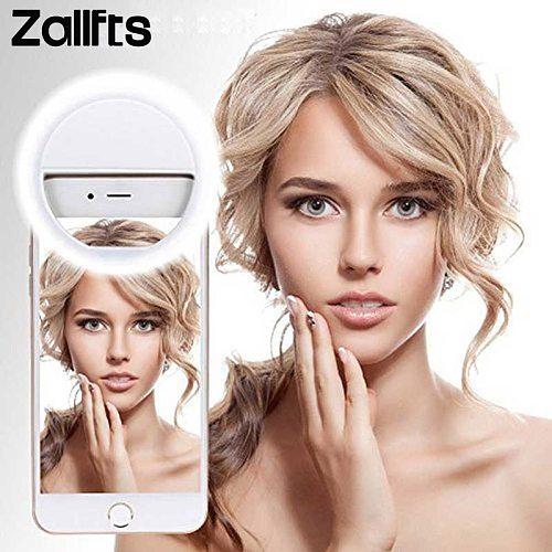 LED Selfie Ring Novelty Light Battery Models Ring Clip For Cell Phone Photo Lamp Anel De Luz Para Celular Backlight For Phone