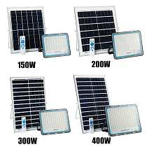 Solar Flood Light Outdoor Waterproof Wall Lamp Led Solar Lamps Multi-function Garden Lighting 150/200/300/400W W/ Solar panel RC