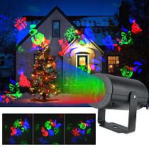 12 Patterns Christmas LED  Snowflake Projector Light Laser Projection Outdoor Waterproof Disco Light Home Garden Party Decor