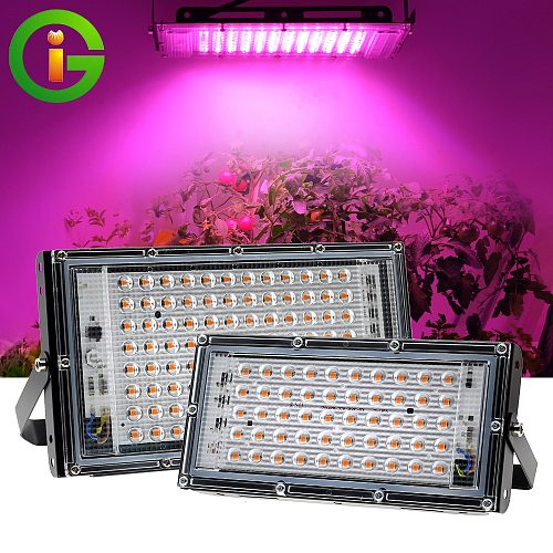 LED Grow Light AC220V 50W 100W LED Full Spectrum Phyto Lamp Greenhouse Hydroponic Plant Growth Lighting