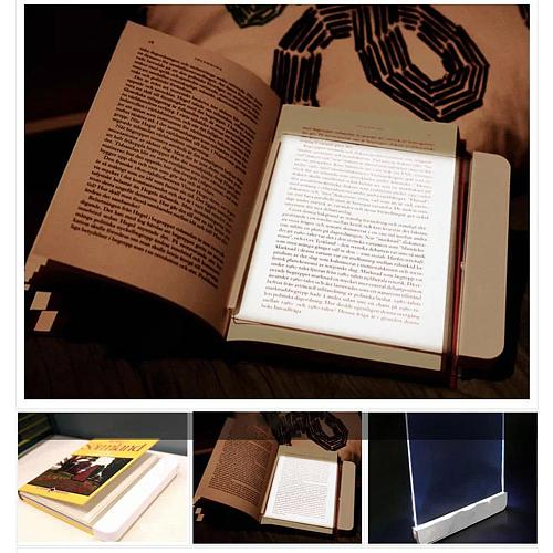 Lightwedge LED Book Light Reading Lamp Bookmark Panel Lamp Portable Flat Plate Light Panel Eye Protection Soft Night Light