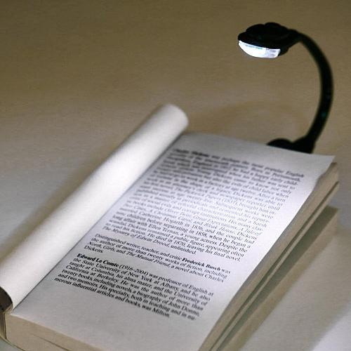 Led Book Light Mini Clip-On Flexible Bright LED Lamp Light Book Reading Lamp For Travel Bedroom Portable Student Dormitory Light