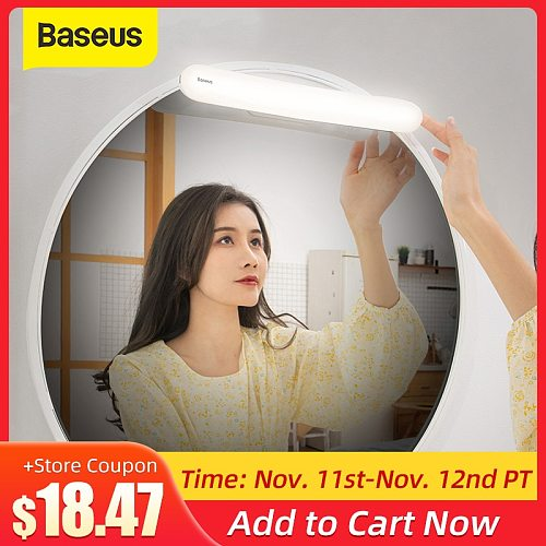 Baseus LED Vanity Mirror Lights Makeup Vanity Light LED Wall Lamp Dressing Reading Table Mirror Lamp