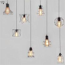 Modern Iron Net Pendant Light Led E27 Industrial Metal Hanging Lamp Home Decor Loft Salon Kitchen Living Room Cafe Restaurant