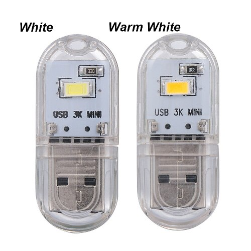 MINI USB 5V LED Night Light Protable 2 LEDs SMD 5730 Desk Book Reading Lights for PC Laptops Computer Mobile Power Camping lamp