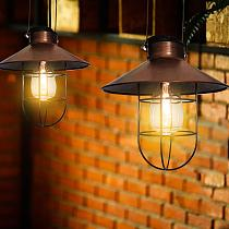 Solar Retro Lantern Light Hanging Solar Lights Waterproof Intelligent Control Solar Lamp Wrought Iron Lamp Courtyards Decoration