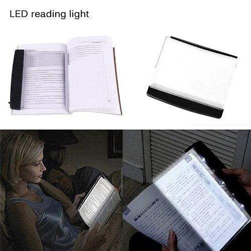 Creative LED Book Light Reading Night Light Flat Plate Portable lampara para leer libro Led Desk Lamp for Indoor Kids Bedroom