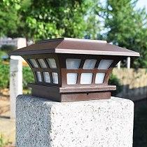 Solar Post Lamp Outdoor Waterproof Column Head Light For Garden Wall Lamp Garden Fence Landscape Lamp For Gate Garden Decoration