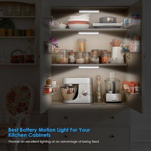 LED Under Cabinet Light LED PIR Motion Sensor Lamp 6/10/20LEDS lighting for Wardrobe Cupboard Closet Kitchen night light