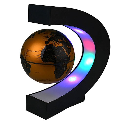 Globe Lamp Globe Light LED Globe Light Romantic Novelty Luminous Magnetic Levitation World Map 3.5inches Study Living Room