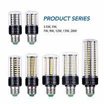 Led Corn Bulb E27 220V E14 Lamp 110V Led Light Bulb 5736 85~265V 3.5W 5W 7W 9W 12W 15W 20W LED Home Lighting Bedroom No Flicker