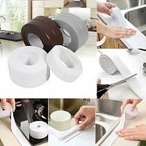 3.2 Meters Bathroom Shower Sink Bath Sealing Strip Tape White PVC Self adhesive Waterproof Wall sticker for Bathroom Kitchen