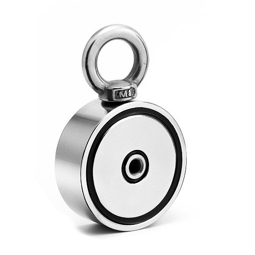 Strong Powerful Neodymium Magnet Double side Search magnet hook super power Salvage Fishing magnetic D60*22mm Stell Cup holder